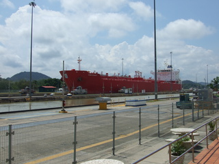 tanker in panama canal 320x240