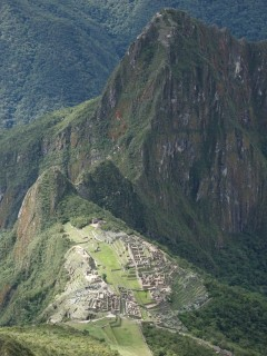view from machu picchu mountain 240x320