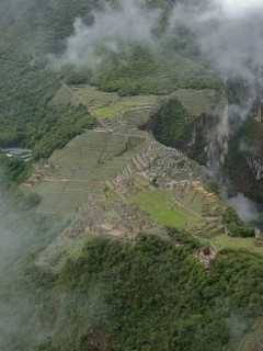 view from wayna picchu 240x320